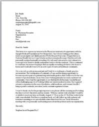 Physician Assistant Cover Letter Example Photography Orthopedic