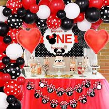 Jollyboom Minnie Decorazioni per Feste di Compleanno Forniture Kit ...