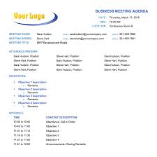17 Free Team Meeting Agenda Templates Ms Office Documents