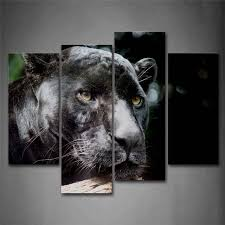 banmu black panther head wood portrait wall art painting the picture print on canvas animal pictures on black panther animal wall art with banmu black panther head wood portrait wall art painting the picture