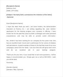 Personal Reference Letter For A Friend Free 10 Sample Reference Letter