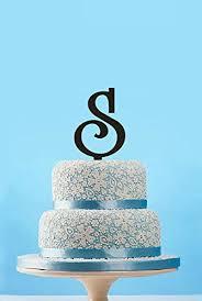 Custom Letter S Cake Toppermonogram Letter Cake Topper For