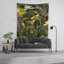fl and birds xvi wall tapestry