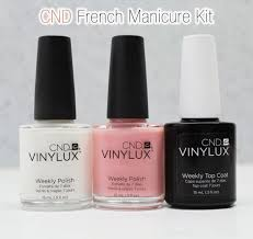 cnd vinylux weekly polish american french manicure kit 3pc set 2 color top coat