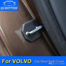 car door lock protective cover for volvo s40 xc60 c30 s80 xc90 s90 v40 v60 s60 2012 2018 car door lock decoration auto cover car interior decoration car