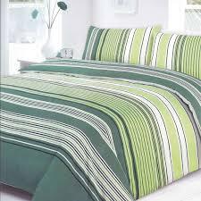 covers villa stripe green duvet set expand
