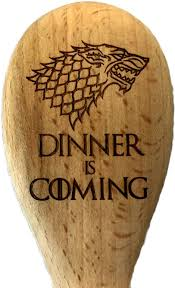 The Wooden Spoon Game Game of Thrones Inspired House Stark Dinner is Coming Wooden Spoon 45