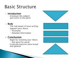 research paper structure body