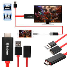 iphone to hdmi adapter. mirascreen micro usb to hdmi mhl 1080p cable adapter for iphone 8 6 7 plus ah283 iphone hdmi