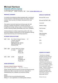 Graduate Software Engineer Cv Sample How To Write A Cv Cv Example
