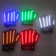Light Gloves Us 38 4 20 Off Led Gloves Laser Show Garment Stage Props Nightclub Singer Dancer Bright Led Light Gloves Led Luminous Costumes In Glow Party