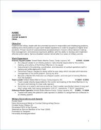 Military To Civilian Resume Template Resume Example