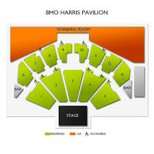 Summerfest 2018 Seating Chart Bmo Harris Pavilion 2019 Seating Chart