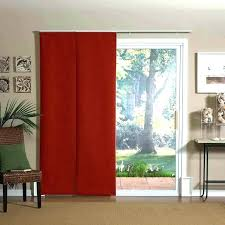 curtains on sliding glass doors over door with blinds for curtain rod size