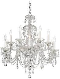 schonbek 12 light crystal chandelier from lamps plus 2 088 lampsplus com