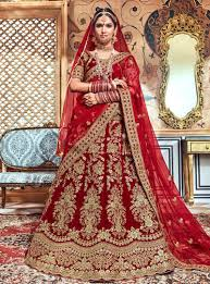 Bridal Lehenga Choli Designs With Price Maroon Velvet Bridal Lehenga Choli 146953 Indian Wedding
