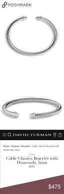 David Yurman Cable Classics Bracelet With Diamonds Cable
