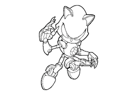 Metal Sonic Coloring Pages Metal Sonic Coloring Page Metal Sonic
