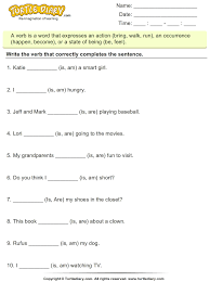 form of be verb choose the correct form of the verb to be am is are worksheet