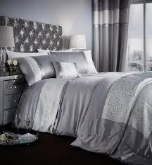 catherine lansfield luxor jacquard silver luxury duvet cover bedding set bb textiles bb textiles