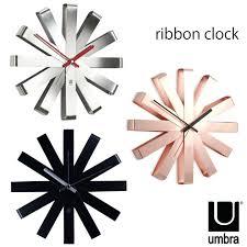 umbra piatto wall clock ribbon fashion 1