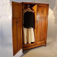 antique wardrobe oak edwardian english armoire compactum linen press c1910 antique armoires antique wardrobes english