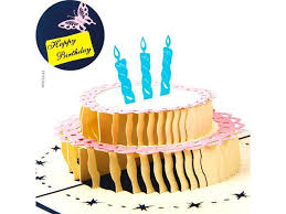 Birthday Cards Papercraft Pop Up 3d Birthday Cake And Cards