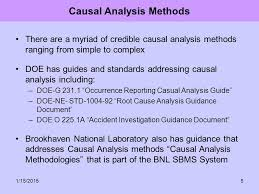 Causal Analysis A Practical Approach To Using Causal Analysis Methods To