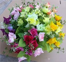 rose flower arrangements home decor artificial decorative flowers