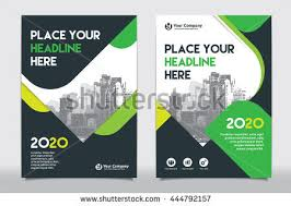 green color scheme with city background business book cover design template in a4 can be