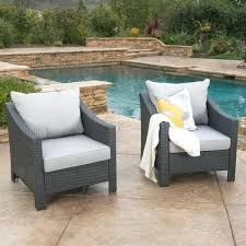 outdoor wicker club chair w water resistant cushions set of 2 furniture sets rattan chair cushion set
