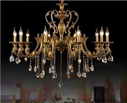image of antique brass chandelier for