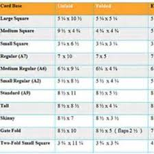 Greeting Card Size Chart Greeting Card Sizes Chart Greeting Card Size Envelope