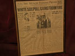 chicago black sox baseball sports memorabilia front page of  1919 chicago black sox baseball sports memorabilia front page of newspaper world series