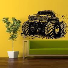 monster truck wall decal z329