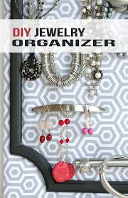 diy jewelry organizer tutorial a great idea for any home or as a gift