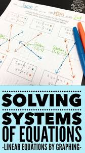 solving systems of equations by graphing worksheet solving systems of equations by graphing practice worksheet