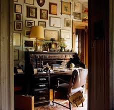 tags home offices middot living spaces. Perfect Middot Home Office With Framed Wall Arts And Roll Top Desk  Wooden  Furniture Intended Tags Offices Middot Living Spaces A