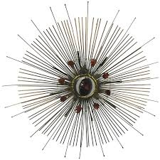 curtis jere wall mounted sunburst sculpture with removable center