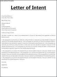 Letter Of Understanding Template Word Letter Of Intent Template Free Word Templates Understanding
