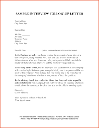 Ideas Of Resume Follow Up Letter Template Sample Thank You Letter