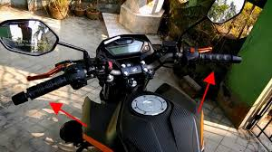 Bar End Lights For Pulsar Handle Bar Weight Modifiaction On Honda Hornet 160r Pulsar Bar End Weight Installation