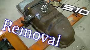 2001 S10 Fuel Tank Removal - YouTube