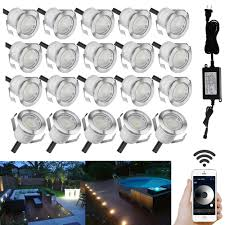12v Led Patio Lights Us 100 09 9 Off 20pcs Lot 30mm 12v Ip67 Terrace Led Deck Stair Step Rail Lights Garden Yard Pathway Patio Lamp Wifi App Controller Dimmer Timer In