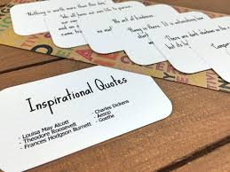 Quote Cards Magnificent Inspirational Quote Cards Inspiring Quotes Party Favor Etsy