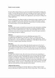 Famous Good Things To Put In A College Resume Collection Entry