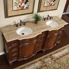 bathroom double sink cabinets. amazon.com: silkroad exclusive travertine stone top double sink bathroom vanity with furniture bath cabinet, 72-inch: home \u0026 kitchen cabinets l