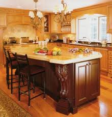 Victorian Kitchen Island Victorian Style Kitchens With Wooden Island And Stools And