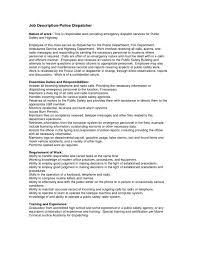 Dispatch Operator Sample Resume Dispatcher Jobption And Duties Operator Resume Police Security Hvac 6