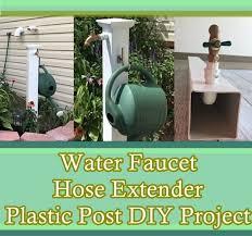 water faucet hose extender plastic post